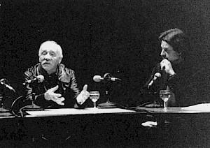 <p>Maurice Chappaz et Daniel Jeannet au CCS / Photo: D.R.</p>