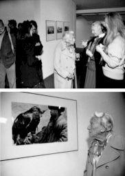 <p>Ella Maillart lors du vernissage de son exposition au CCS / Photo: Philippe Vermès</p>