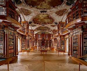<p>Bibliothèque de l'Abbaye de Saint-Gall / Photo: D.R.</p>