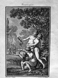 """""""Musarion, ou la philosophie des grâces"""", C.-M. Weiland, 1780 / Frontispice — © Centre culturel suisse. Paris"""
