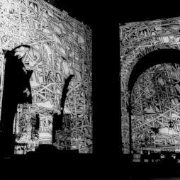 """<p>Bruno Reutimann """"Métamorphoses"""" / Installation projéction diapositives</p>"""