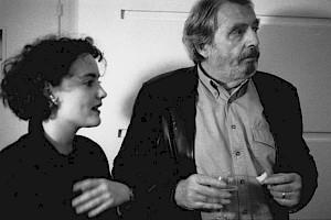 <p>Anne Pellaton et Alain Tanner au CCS / Photo: D.R.</p>