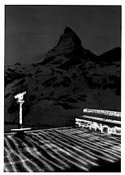 Le Mont-Cervin par Michel Séméniako, 1990 (carton de l'événement) — © Centre culturel suisse. Paris