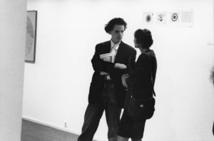 <p>Vernissage de l'exposition avec Hans-Ulrich Obrist / Photo: Alain Ceyssac</p> — © Centre culturel suisse. Paris