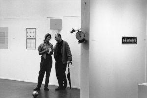 <p>Vernissage de l'exposition avec Bernard Frieze / Photo: Alain Ceyssac</p> — © Centre culturel suisse. Paris