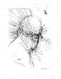 """Rolf Isel, """"Horcher"""" / Pointe sèche, 107 x 76cm, 1986 — © Centre culturel suisse. Paris"""