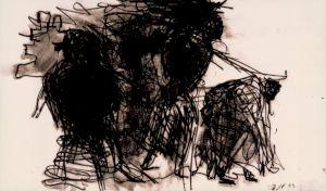 "<p>Peter Roesch, ""Zeignung 23-11-89"", encre de chine, 46,4 x 79,3cm, 1989</p>"