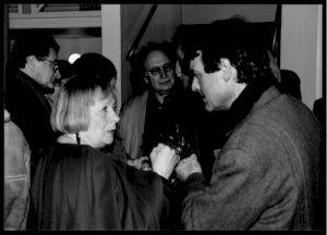 """<p>Lors d'un des évènements de """"L'atelier d'Alberto Giacometti"""", Daniel Jeannet (à droite) / Photo: Aline Kundig</p>"""