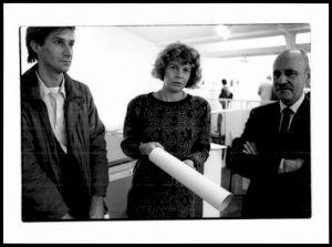 """<p>Lors d'un des évènements de """"L'atelier d'Alberto Giacometti"""", Otto Ceresa (à droite) / Photo: Claude Delsault</p>"""