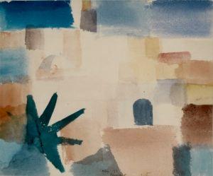 """<p>""""Maison à Salé, 1921"""", aquarelle et crayon / Collection privée Jakob et Gisela Zaeslin, Bâle (CH)</p>"""
