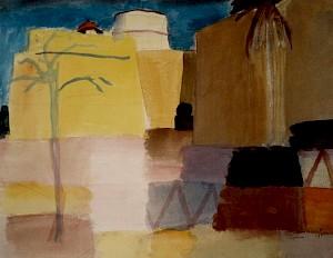 """""""Citadelle à Tunis I"""", aquarelle et crayon, 1920 / Collection Hermann et Margrit Rupf-Stiftung (CH) — © Centre culturel suisse. Paris"""