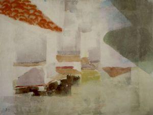 """<p>""""Vue sur Andraitx I"""", aquarelle, 1926 / Collection Fondation Gottfried Keller (CH)</p>"""
