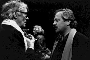 """<p>Wener Düggelin et Jean-François Amiguet lors de la """"Rétrospective Michel Soutter"""" / Photo: Katrin Bötzel</p>"""