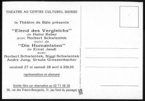 <p>Carton de l'événement / Verso</p>