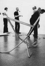 """<p>Schang Hutter, """"Où aller?"""" (montage de l'exposition) / Photo: D.R.</p>"""