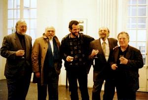 De gauche à droite: Marcel Schwander, Tristan Solier, Philippe Morand, Jean Cuttat, Alexandre Voisard / Photo: D.R. — © Centre culturel suisse. Paris
