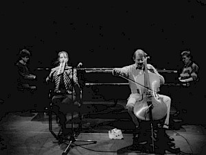 Jacques Demierre, Françoise Kubler, Alfred Zimmerlin, et Irène Schweizer / Photo: D.R. — © Centre culturel suisse. Paris