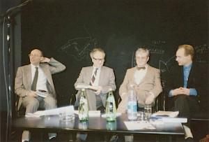 La Suisse romanche rencontre l'Occitanie avec Iso Camartin, Oscar Peer, Flurin Spescha et Jean-Marie Auzias / Photo: D.R. — © Centre culturel suisse. Paris