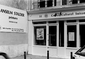 Vitrine du CCS durant l'exposition d'Anselm Stalder / Photo: D.R. — © Centre culturel suisse. Paris