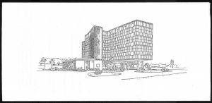 """<p>Illustration sur le carton de l'événement """"Vivre Le Corbusier"""", cycle de débats organisé par les étudiants de la Fondation Suisse</p>"""