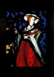 Détail d'un vitrail aux armes de Mathias Bär, 1531 / Carton de l'évènement — © Centre culturel suisse. Paris