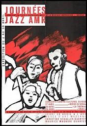 """Affiche/dépliant des """"Journées Jazz AMR"""" — © Centre culturel suisse. Paris"""