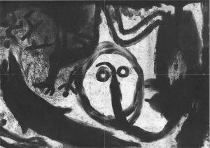 """<p>Miriam Cahn, """"Lieux stratégiques, lieu de menstruation"""" / Brochure de l'exposition</p>"""