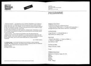 """<p>""""Solistes suisses"""", invitation et programme</p>"""