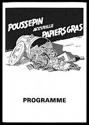 """""""Poussepin accueille Papiers Gras"""", programme — © Centre culturel suisse. Paris"""