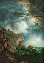 """A.L.R. Ducros, """"Oracle nocturne à Cefalù"""", vers 1800 / Carton de l'événement — © Centre culturel suisse. Paris"""