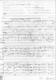 <p>Béla Bartok, Violinkonzert Nr.1 / (1907 / 08) Paul Sacher Shifftung Basel (recto du carton d'invitation)</p>