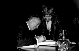 <p>31 mai 1986, Paul Sacher / Photo: M.Polak / Collectif Presse</p>