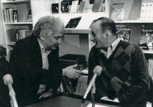 <p>Bernard Liègme et Michel Vinaver  / Photo: Jean-François Delon</p>