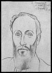 Ernest Ansermet par Picasso, Barcelone 1917 (Collection Laurent Kasper-Ansermet ) / Carton de l'événement — © Centre culturel suisse. Paris