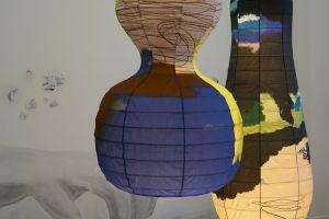 <p>Vues d'exposition Claudia & Julia Müller, <em>Une brève histoire de baskets sales</em> © Tristan Savoy / CCS 2021</p>