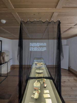 <p>Céline Manz, Zeichnen heisst: weglassen / Dessiner, c'est : supprimer, 2019/2020.  16:45 min, projection audio-visuelle, loop.  Image courtesy Nidwaldner Museum, Stans, photo: Christian Hartmann.</p> — © Centre culturel suisse. Paris