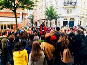 <p>City Tour «Zurich through the eyes of a refugee», ongoing project since 2016 © Architecture for Refugees SCHWEIZ</p>